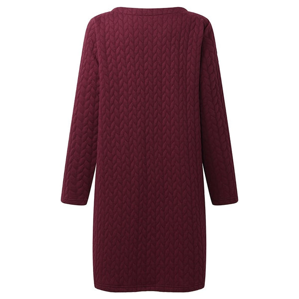 Textured Pocket Sweater Dress (3 Colors)