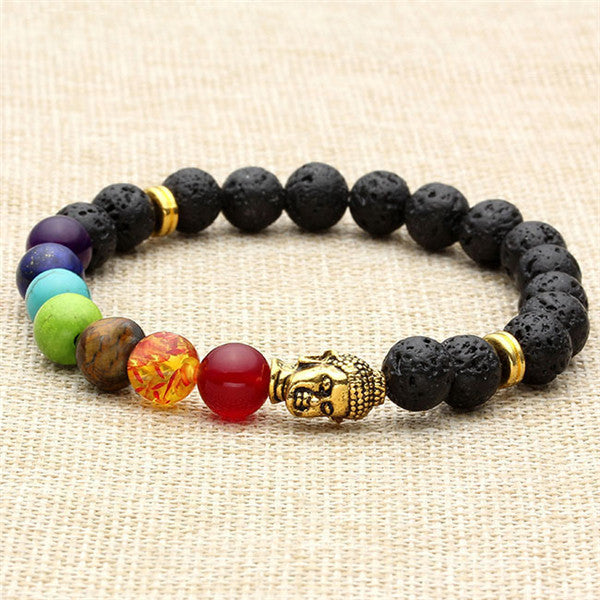 Buddhist 7 Chakras Beaded Energy Bracelet