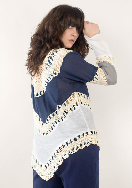 Crochet Long Sleeved Top (2 Colors)