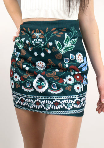 Embroidered Nomad Skirt