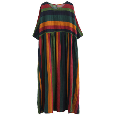 Technicolor Striped Dress