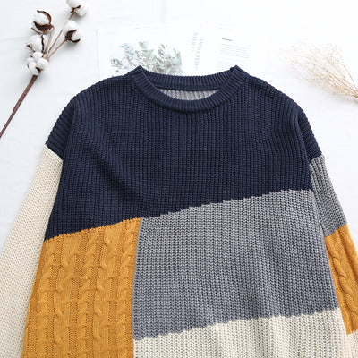 Autumnal Patchwork Sweater