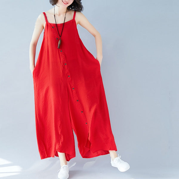 Button Down Jumpsuit (2 Colors)
