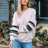 Boho Embroidered Sleeve Sweater (3 Colors)