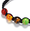Healing 7 Chakras Adjustable Rope Energy Bracelet
