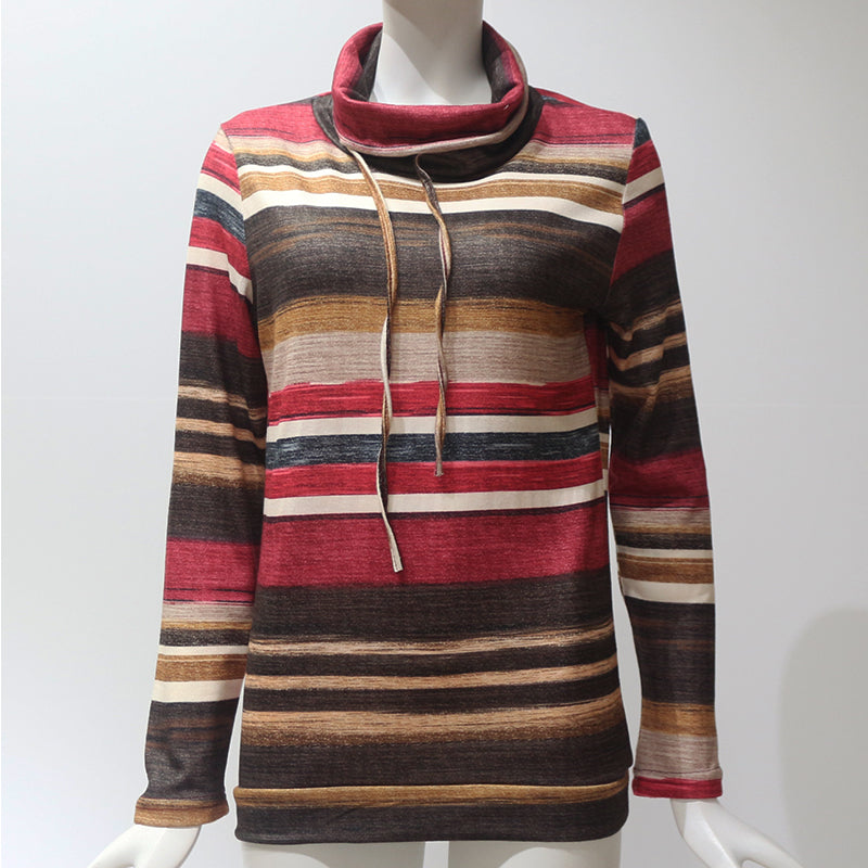 a4433772c586f Turtleneck Striped Pullover (2 Colors) – KismetCollections