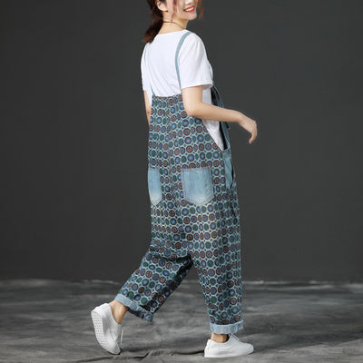 Funky Patterned Overalls (4 Colors)