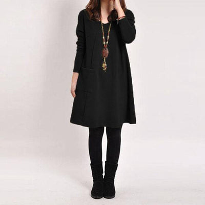 Winter Pocket Dress (5 Colors)