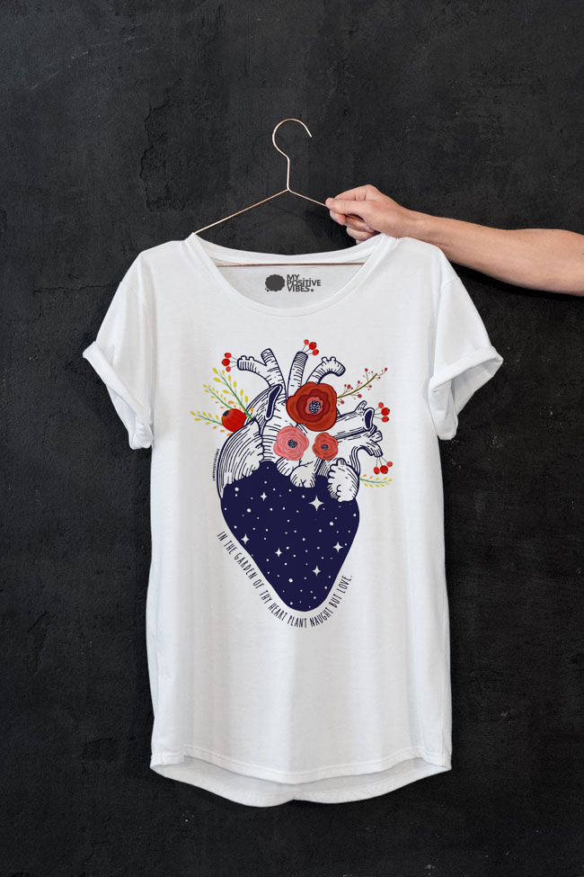 Anatomy T Shirt My Positive Vibes Kismetcollections