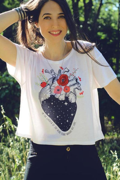 Anatomy Crop Top - My Positive Vibes