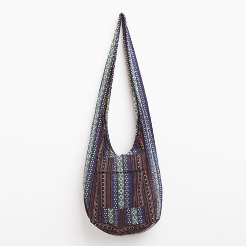 Brown Woven Sling Bag
