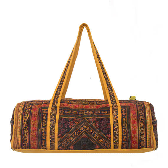 Hmong Embroidered Duffle Bag (8 Colors)