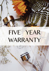 Mizu Aura - Five Year Warranty