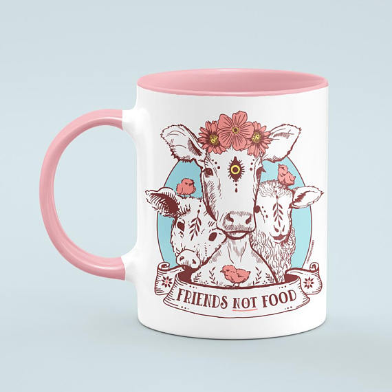 Friends Not Food Mug - My Positive Vibes