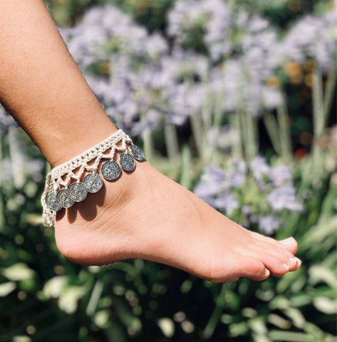 Crochet Coin Anklet (5 Colors)