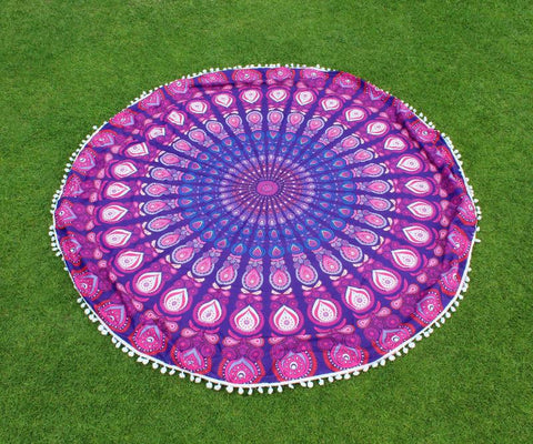 Peacock Mandala Blanket (2 Colors)