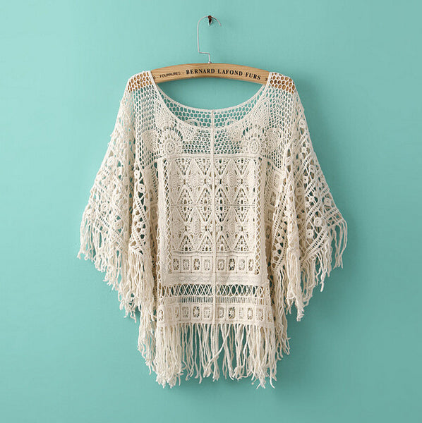 Tassel Crochet Cover Up