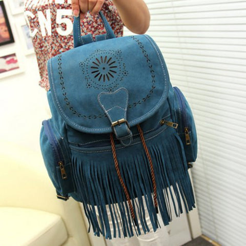 Boho Tassel Backpack (4 Colors)