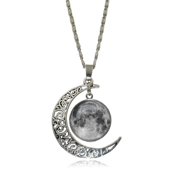 Double Moon Necklace (6 Colors)
