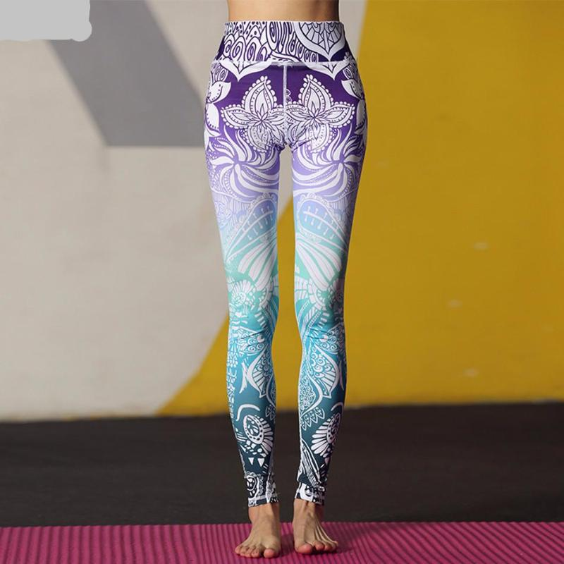 Gradient Blossom Yoga Pants