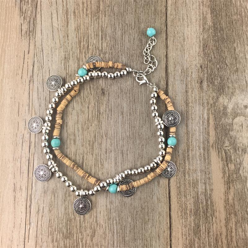 Tide Beaded Anklet