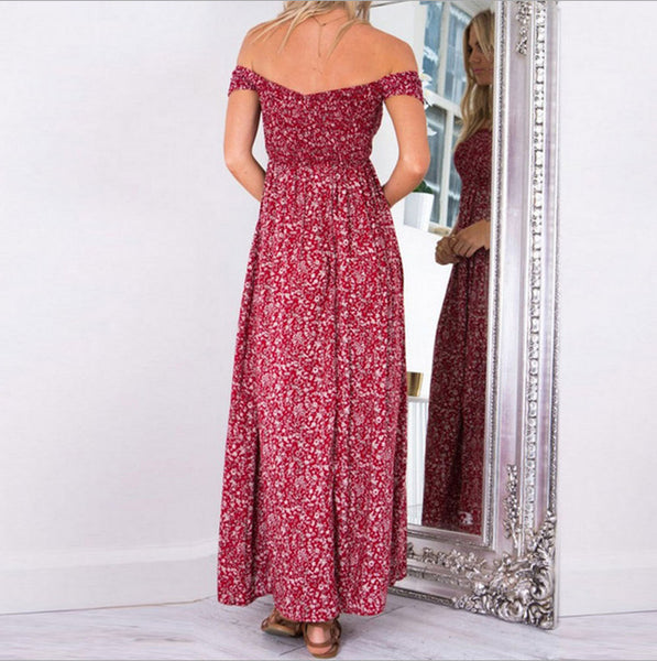 Ivy Off Shoulder Maxi Dress