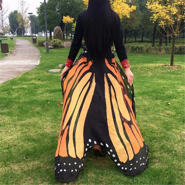 Butterfly Collection: Orange Butterfly Festival Wings Shawl