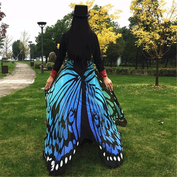Clear Blue Sky Butterfly Festival Wings Shawl