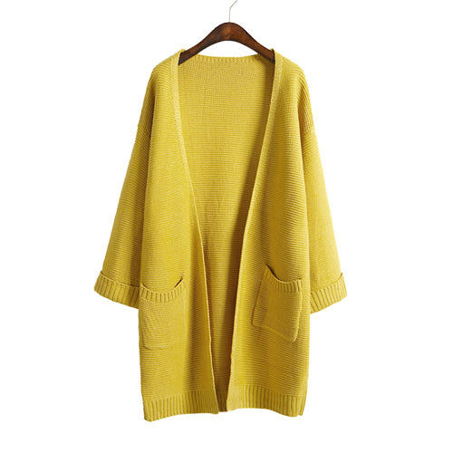 Casual Long Knitted Cardigan (3 Colors)