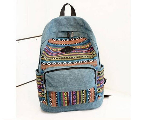 Traveller Embroidered Backpack (4 Colors)