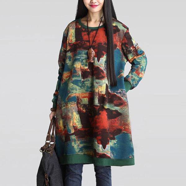 Abstract Oversized Sweatshirt