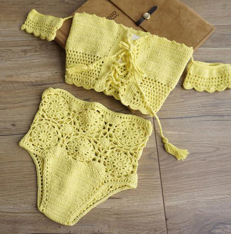 Beach Crochet Bikini (3 Colors)