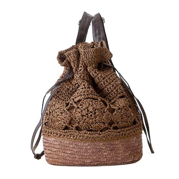 Woven Drawstring Backpack (3 Colors)