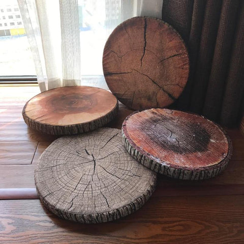 Wood Slice Pillows (4 Styles)