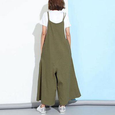 Casual Hippie Flared Overalls