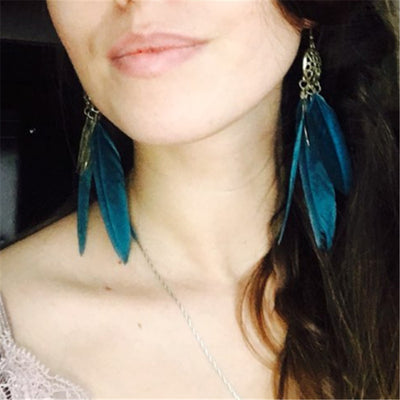 Ritual Feather Earrings (2 Colors)