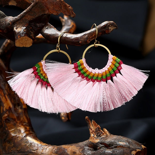 Hippie Tassel Earrings (6 Colors)