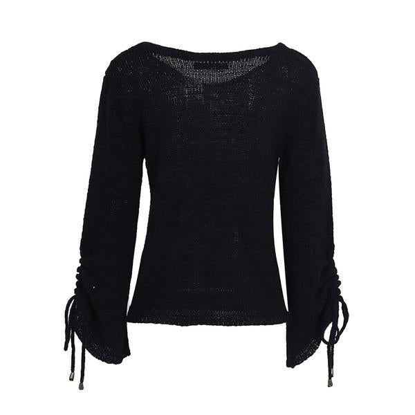 Naomi Lace Up Sweater (2 Colors)