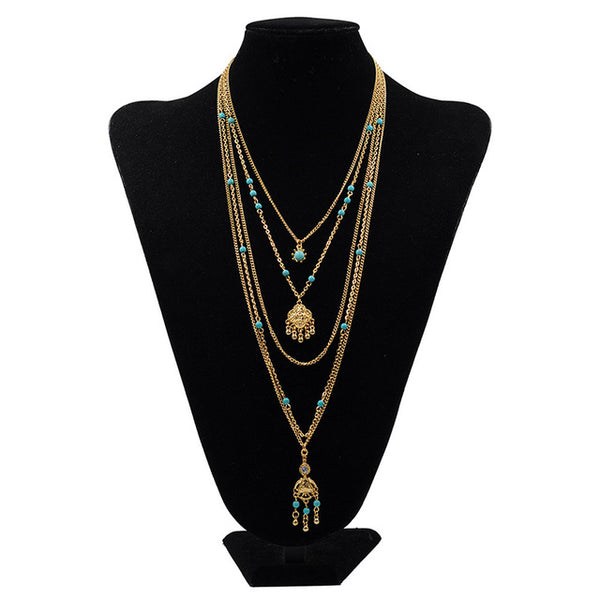 Bohemia Layered Flower Necklace (2 Colors)