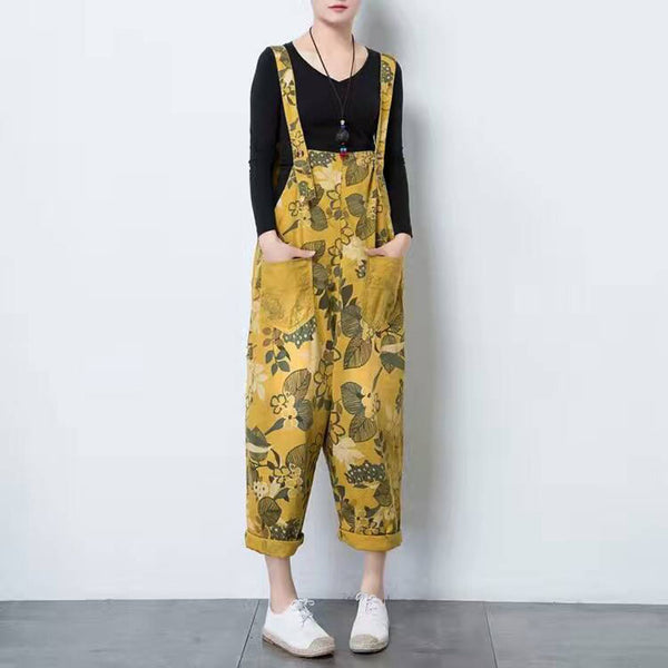 Jungle Flower Overalls