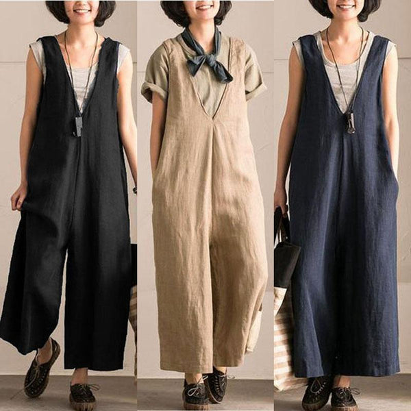 Dalis Cotton Overalls (3 Colors)