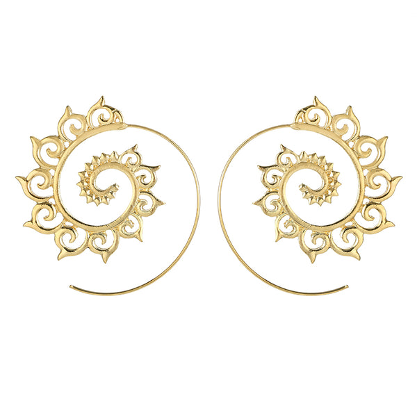 Eva Spiral Earrings (2 Colors)