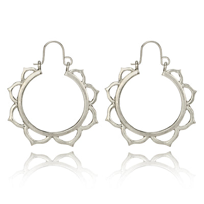 Lotus Hoop Earrings (2 Colors)