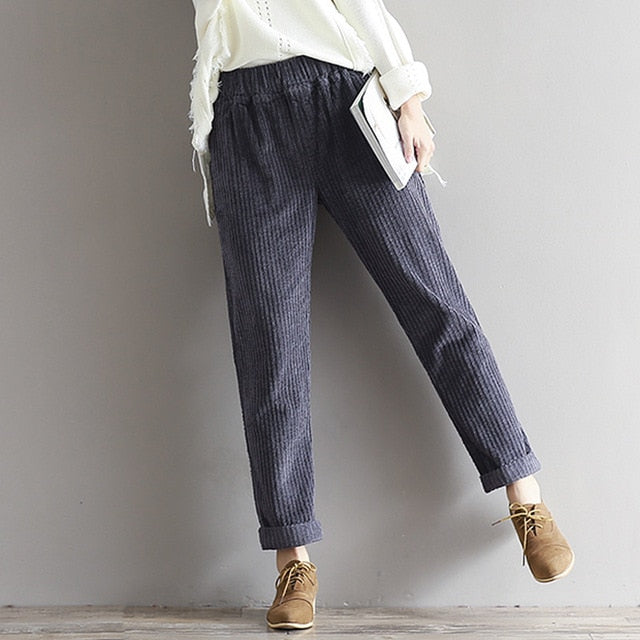 Casual Cord Pants (3 Colors)