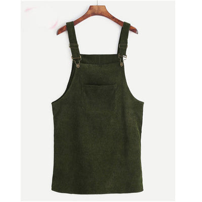 Casual Cord Overall Dress (9 Colors)