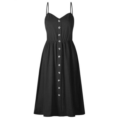 Button Front Midi Dress (3 Colors)