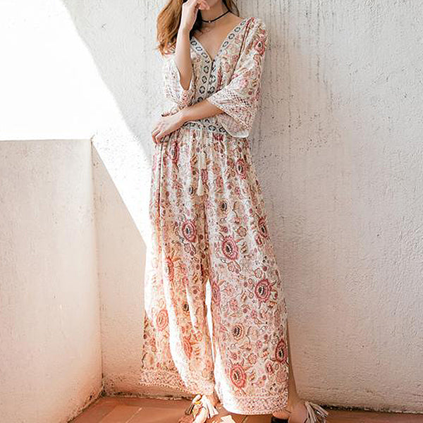 397a3095962 Kasey Floral Jumpsuit – KismetCollections