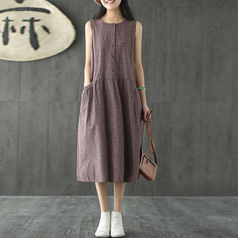 Cotton Midi Dress (2 Colors)