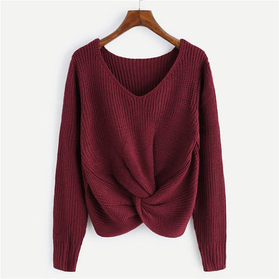 Knot Front Sweater (3 Colors)