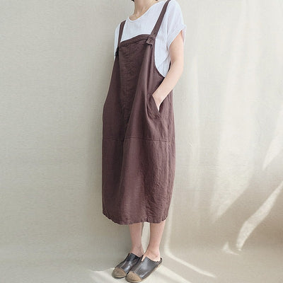 Minimal Cotton Overall Dress (2 Colors)